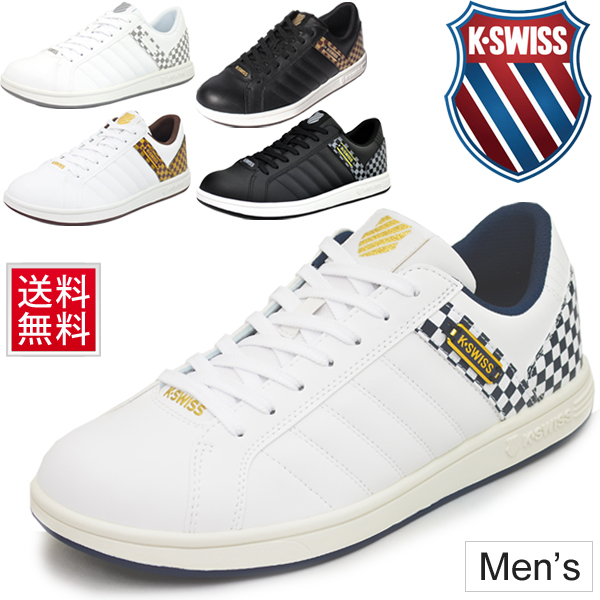 メンズシューズ スニーカー ローカット ケースイス K・SWISS カジュアルシューズ 男性用 紳士靴 チェック柄 運動靴 k-swiss /KSL03