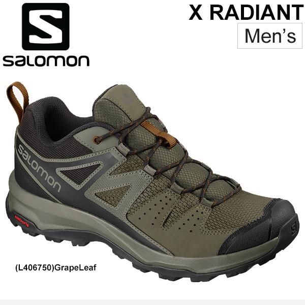 トレッキングシューズ メンズ サロモン SALOMON X RADIANT アウトドアシューズ ローカット ハイキング 山歩き 登山 キャンプ 男性 靴 スポーツ スニーカー 靴/XRADIANT
