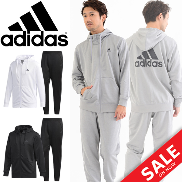 スウェット ジャケット パンツ 上下セット メンズ/アディダス adidas M ESS ライトスウェット/トレーニングウェア 男性用 スウェット パーカー ジョガーパンツ セットアップ /FAO87-FAO96