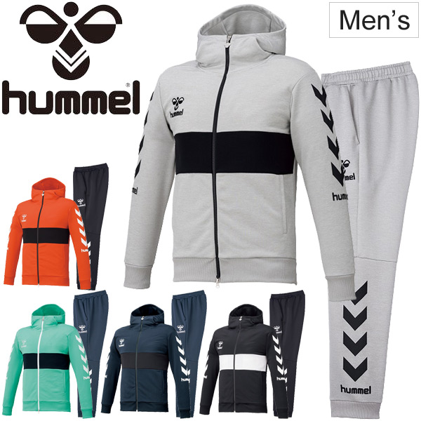 スウェット 上下セット メンズ ヒュンメル hummel PLAY SWEAT フルジップフーディ ロングパンツ 上下組/スポーツウェア 男性 スエット セットアップ トレーニング 練習 普段使い/HAP8219-HAP8219P