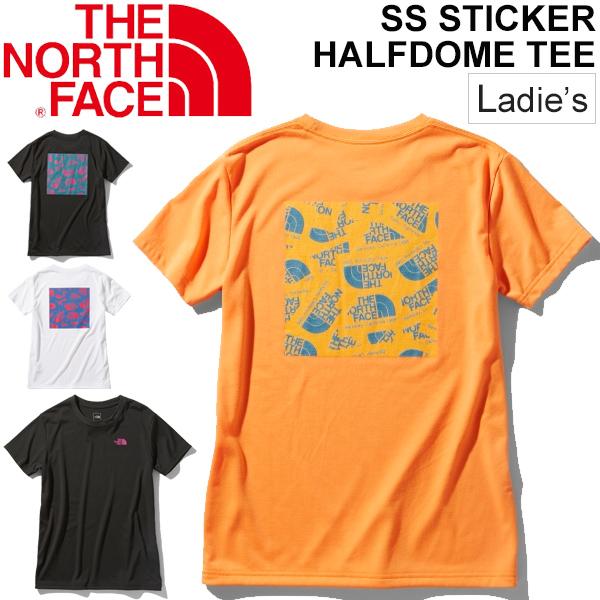 Tシャツ 半袖 レディース ノースフェイス THE NORTH FACE S/Sステッカーハーフドームティー/アウトドアウェア 女性 バックプリント クルーネック 半袖シャツ トレッキング キャンプ カジュアル おしゃれ トップス/NTW32054:WORLD WIDE MARKET