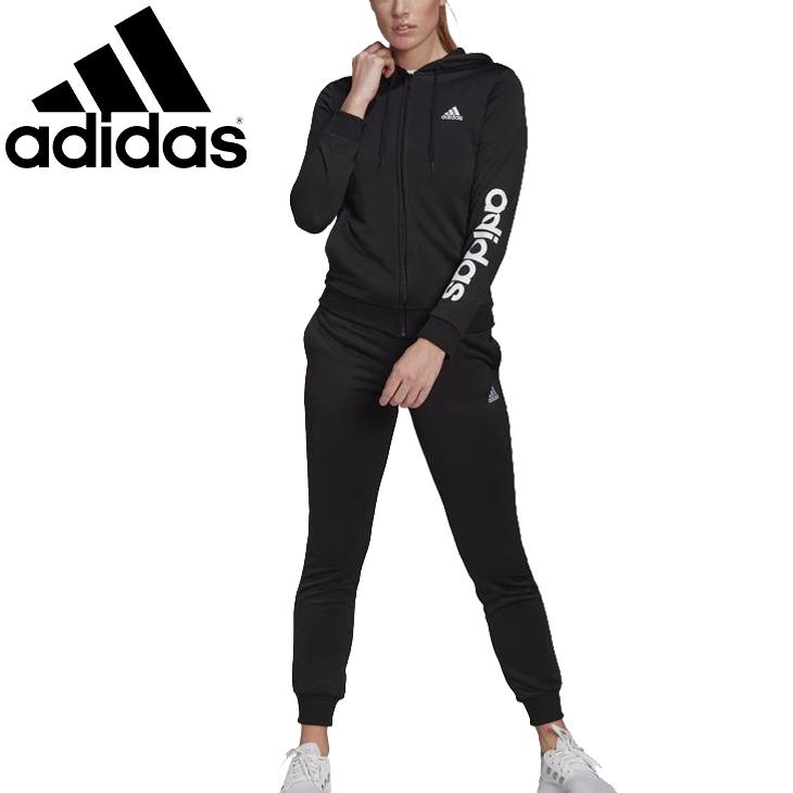 送料無料 アディダス adidas レディース 新色追加して再販 スウェットトラックスーツ 上下組 フィットネスウェア 上下セット W トレーニング 28860 スポーツウェア 舗 ジャケット セットアップ ESS 普段使い スエット ロングパンツ