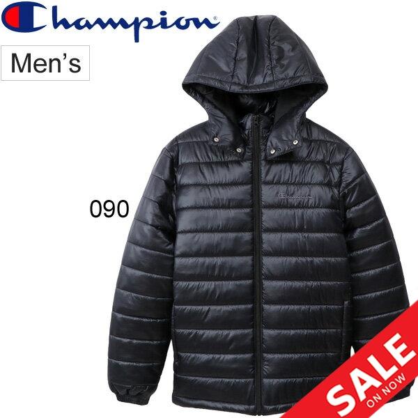 中綿ジャケット メンズ アウター チャンピオン champion CAMPUS ジップフードジャケット キャンパス カジュアル 男性 防寒着 保温 フード付き ジャンバー シンプル ブルゾン 紳士服 上着/C3-Q620