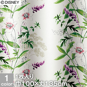 【カーテン】ディズニーファン必見!スミノエ Disney 既製カーテン MICKEY/Wild flower(ワイルドフラワー) 巾100×丈135cm__m-1157-135