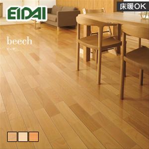 【フローリング材】《送料無料》EIDAI(エイダイ) 永大産業 プレミアムク ビーチ(床暖房用) 厚み12×幅90×長さ1818mm