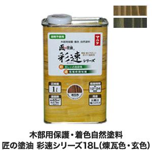 木部用保護・着色自然塗料 匠の塗油 彩速シリーズ 18L__ko-saisoku-5