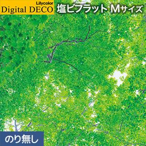 【壁紙】【のり無し壁紙】リリカラ デジタル・デコ 森 PEACE OF FOREST 緑色の天蓋 塩ビフラット Mサイズ__d8081tm