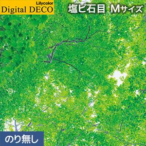【壁紙】【のり無し壁紙】リリカラ デジタル・デコ 森 PEACE OF FOREST 緑色の天蓋 塩ビ石目 Mサイズ__d8081wm