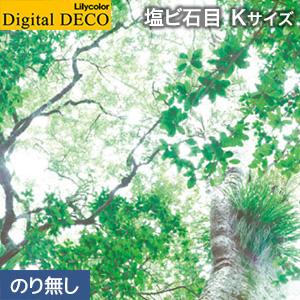 【壁紙】【のり無し壁紙】リリカラ デジタル・デコ 森の惑星 緑色の宝石 塩ビ石目 Kサイズ__d8088wk