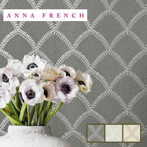 【壁紙】【のり無し】輸入壁紙 レースのようなパターン柄 ANNA FRENCH *AT7910 AT7908 AT7907__tc-