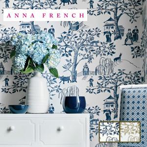 【壁紙】【のり無し】輸入壁紙 インパクトのあるデザイン柄 ANNA FRENCH*AT7915 AT7913__tc-