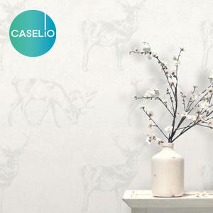 【壁紙】【のり無し】輸入壁紙 白を基調としたクールな動物柄 ESPOIR2 CASeLio__tc-lgd63470079
