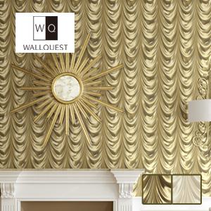 【壁紙】【のり無し】輸入壁紙 立体感のある優雅なドレープが印象的な柄 UTOPIA5 WALLQUEST*TD30306 TD30308__tc-