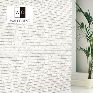 【壁紙】【のり無し】輸入壁紙 ホワイトのナチュラルなレンガ柄 THE BLOOMING HOUSE6 WALLQUEST__tc-td31502