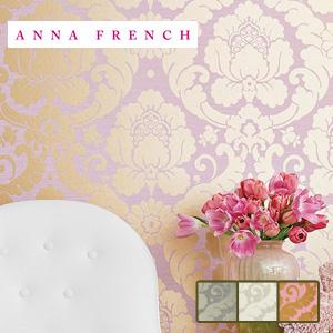 【壁紙】【のり無し】輸入壁紙 ゴールドが華やかなダマスク柄 ANNA FRENCH*AT6134 AT6128 AT6131__tc-