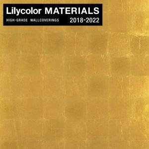 【壁紙】【のり無し壁紙】Lilycolor MATERIALS Metallic-金銀手貼箔- LMT-15223 洋金青箔入平押__nlmt-15223
