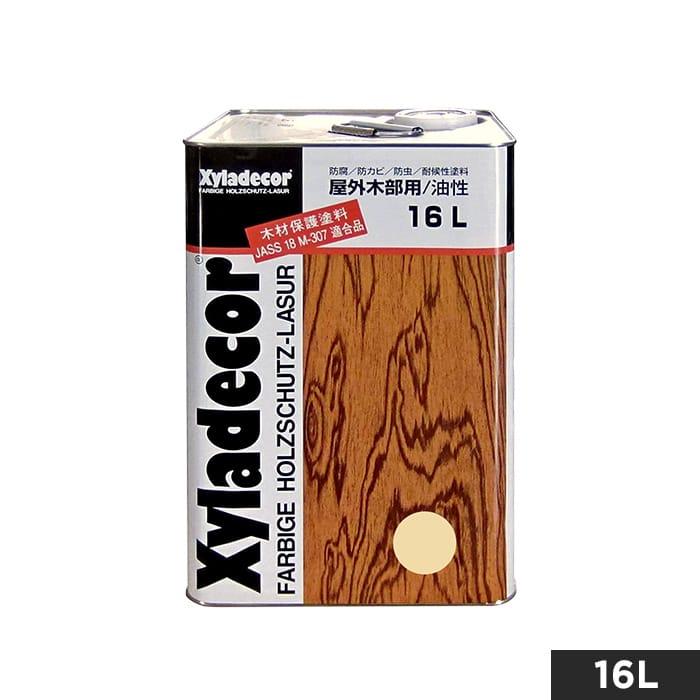 【塗料】屋外UVカット白木用・木材保護塗料(油性) キシラデコール やすらぎ 16L__og-xy-ya-1600