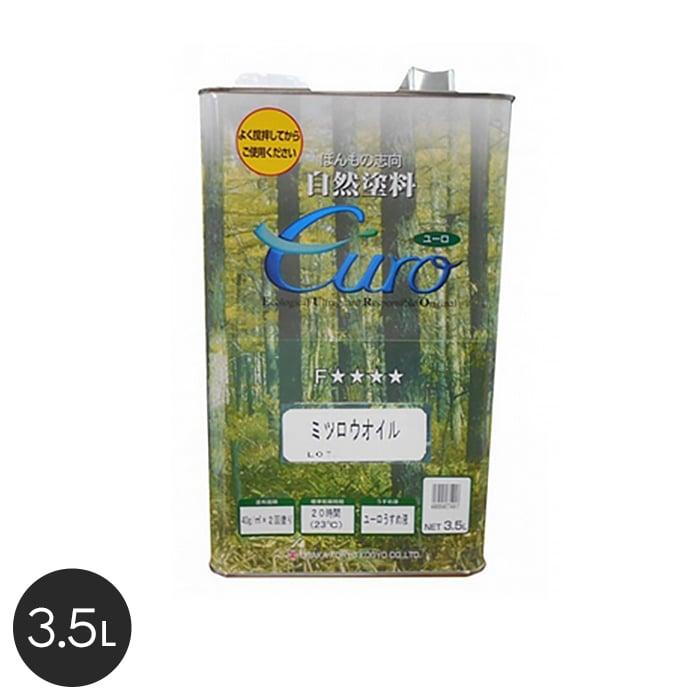 【塗料】【大阪塗料】ユーロミツロウオイル 3.5L 透明__ok-uow-35