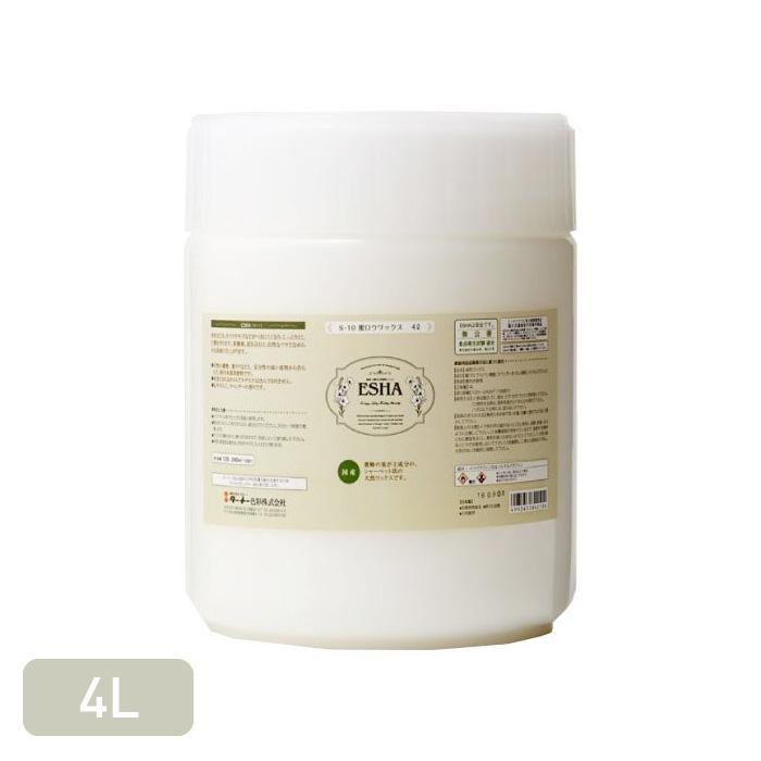 【塗料】しっとりとした膜で木材表面を保護する天然ワックス ESHA 蜜ロウワックス 4L__esha-s10-400