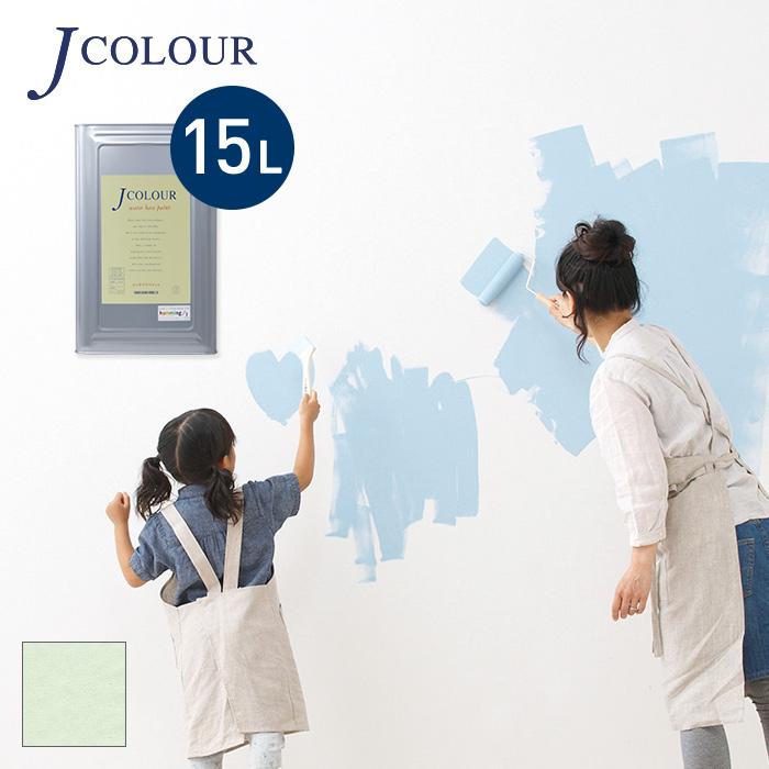 【塗料 ペンキ】壁紙の上から塗れる人にやさしい水性ペイントJカラー 15L カントリーホワイト WH-3a__wh-3a1500