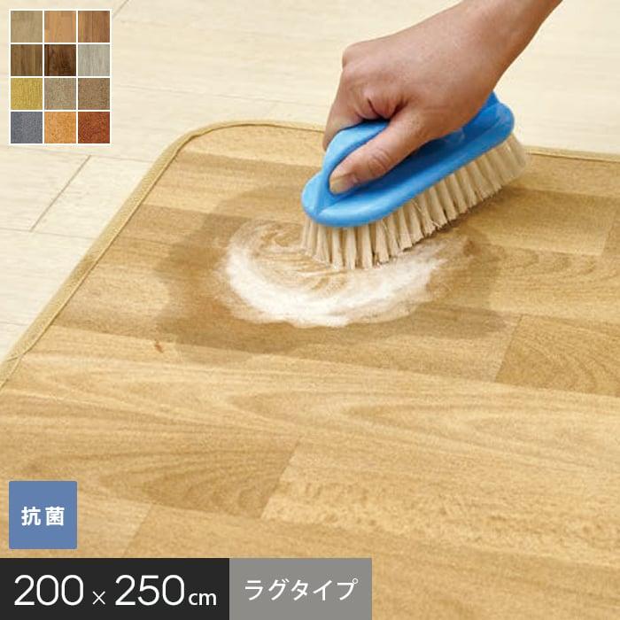【キッチン・玄関マット】ゴシゴシ洗えるカーペット アスワン クリーン ロボ ラグサイズ 200×250cm*GL4500-RS250-N60/GL4101-RS250-C24