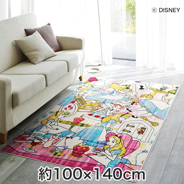 【ラグカーペット】スミノエ ディズニーラグマット ALICE/Story RUG(ストーリーラグ) 約100×140cm__dra-1064-140