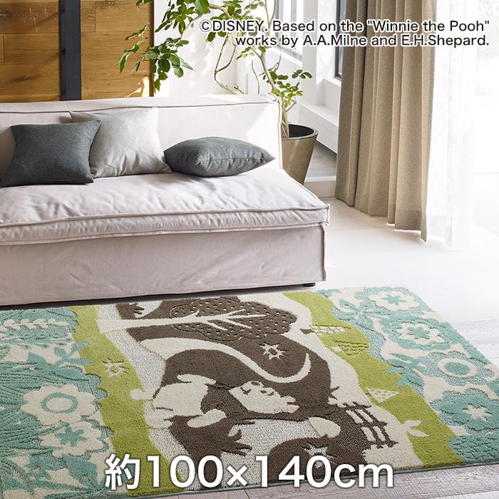 【ラグカーペット】スミノエ ディズニーラグマット POOH/In the wood RUG(インザウッドラグ) 約100×140cm__drp-1051-140
