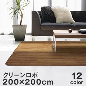 【キッチン・玄関マット】ゴシゴシ洗えるカーペット アスワン クリーン ロボ ラグサイズ 200×200cm*GL4500-RS200-N60/GL4101-RS200-C24