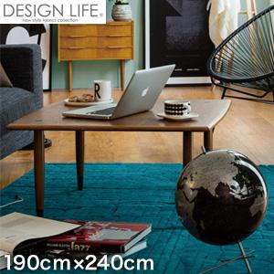 【ラグカーペット】スミノエ 高級ラグカーペット DESIGN LIFE キアズマラグ 190×240cm ブルーグリーン__cp13462857-190240
