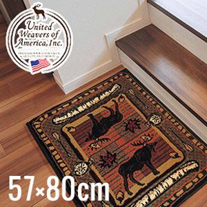 【キッチン・玄関マット】高級ラグカーペット ウィルダネスストリーム 57×80cm__uw25729s
