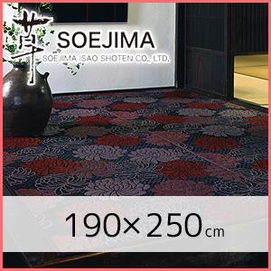 【国産い草ラグ】 い草ラグ 袋織 「マム」(裏貼加工) 190×250(cm)*__igusa-rug0022-bk