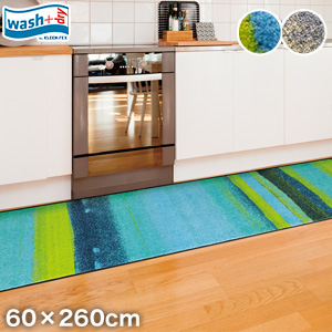 【ラグカーペット】KLEEN-TEX デザインラグマット Wash + Dry Medley 60×260cm*342 348__ab00