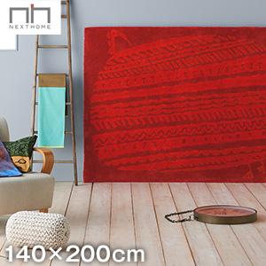 【ラグカーペット】スミノエ 高級ラグカーペット NEXT HOME ホロホロ 140×200cm レッド__b3719e-16