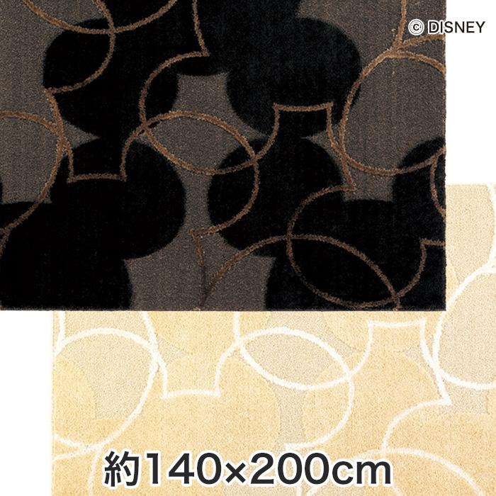 【ラグカーペット】スミノエ ディズニーラグマット MICKEY/Pearl line RUG(パールラインラグ) 約140×200cm*2 10__drm-1004-200-