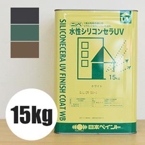 【塗料】 【日本ペイント】水性シリコンセラUV 15kg*013 050 342__np-su-