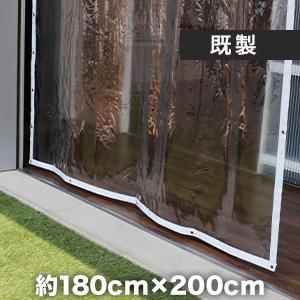 ビニールカーテン ビニールカーテン 透明 糸無し 厚0.30mm HE-030-A 既製サイズ 約180cm×200cm__hi-030-a