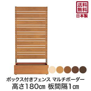 【ウッドデッキ】樹脂お庭の目隠し、ガーデニングに!簡単設置 【樹脂製】ボックス付きフェンス マルチボーダー 1cm間隔 幅90cm×高さ180cm*WH PI LB CO DB__fe-m1801-