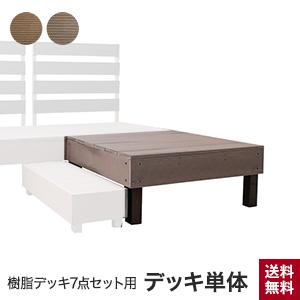 【ウッドデッキ】樹脂デッキ7点セット用 デッキ単体 900×900×H370mm__jd-7set-de
