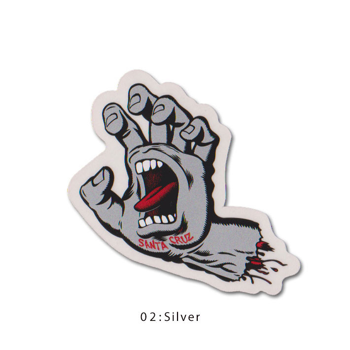 Santa cruz skateboards screming hand sticker blue santa cruz screaming hand stickers seals cyan blue p19jul15