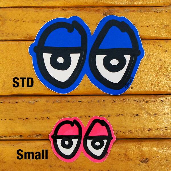 Krooked Eyes Small Sticker Neon Orange kurukkudo/標識的眼睛/滑板/滑板/daikatto/封條/dekaru/霓虹燈柳丁/05P03Dec16