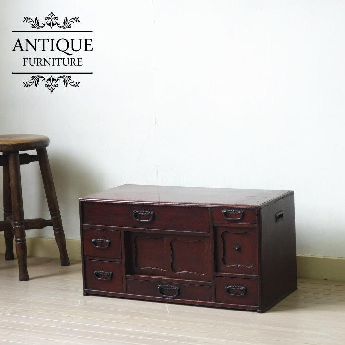 アンティーク 和製 手元箪笥 ヒノキ タンス 無垢材 renovation antique funiture