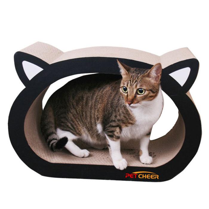 猫用つめとぎ 段ボール キャットトンネル 猫用品 お手入れ用品 爪切り 爪とぎ ダンボールタイプ またたび付き ストレス発散 大きな爪とぎ 猫ベッド 段ボール◇MJ024