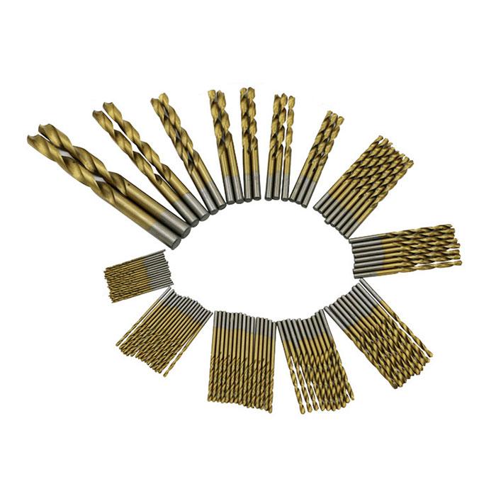 ステンレス 難削材 一般鋼材 軽金属などの穴あけに 鉄工用ドリル刃 99セット HSS鋼 1.5-10mm 上質 高速度鋼 チタンコーティング 99pcs QST-99PCS セール ステンレス用 メール便