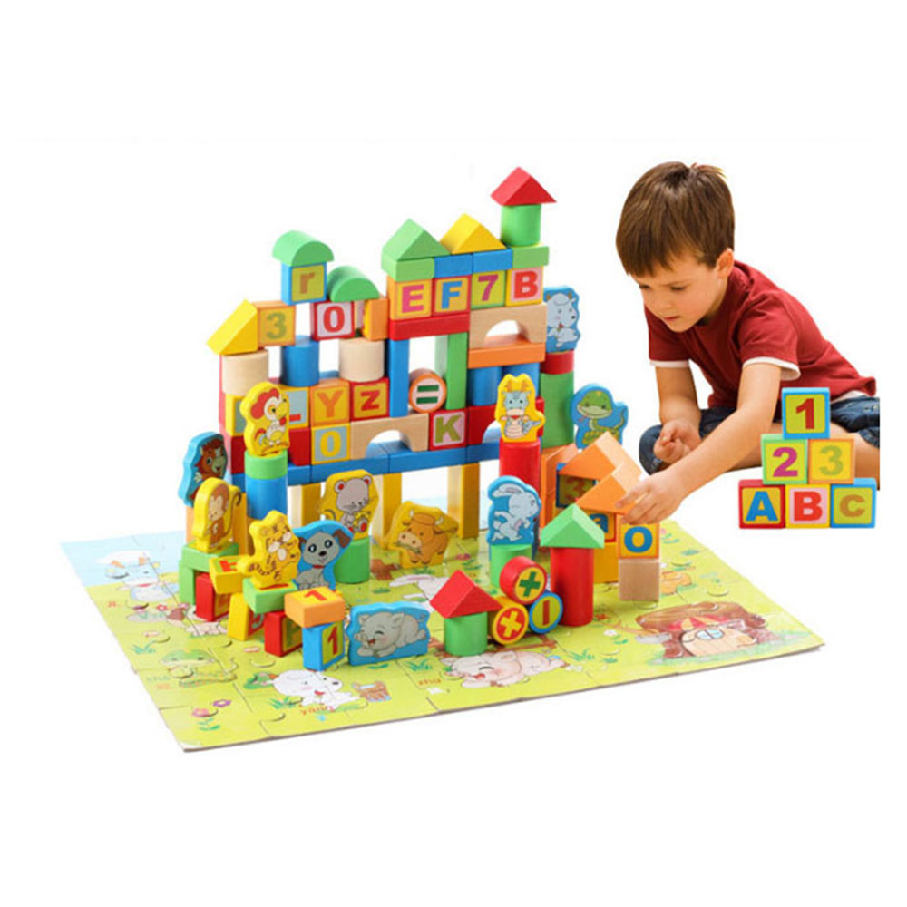 アルファベット 数字 正規認証品!新規格 数学記号 十二支が付いた木製積み木セット148ピース 積み木 知育玩具 積木 つみき 148ピース 子供 おもちゃ 十二支 パズル 上等 木製 QZM-005