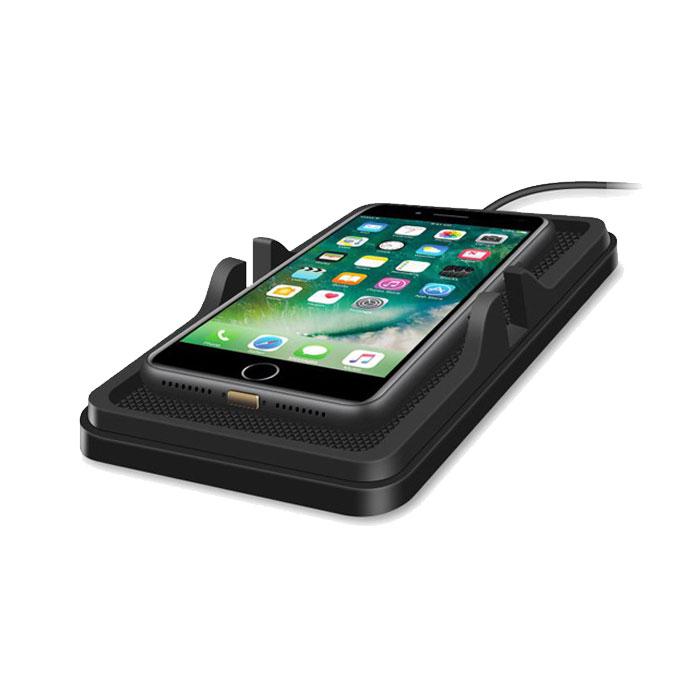 スマホスタンドとしても使える車載Qi充電器 全品最安値に挑戦 車内やデスクにも 車載 Qi充電器 スマホホルダー Qi規格対応 ワイヤレス充電パッド 滑り止めマット ナビもラクラク 送料無料 激安 お買い得 キ゛フト C6-QI Galaxy iPhone8 振動に強い iPhoneX S8 など 8plus Samsung