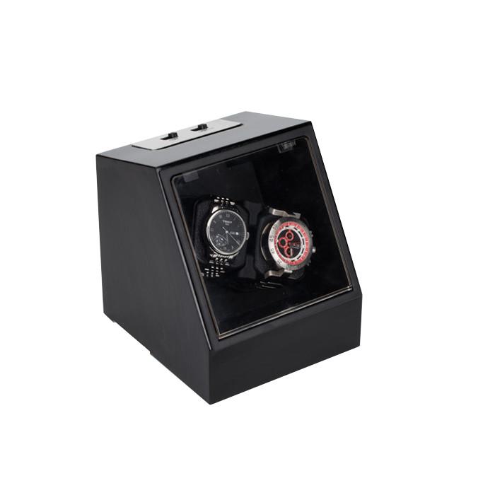 ワインディングマシーン 2本同時巻 自動巻時計専用 電動振動装置 巻き上げ機 ウォッチワインダー 静音設計 腕時計収納ケース 使用方法簡単 コレクション インテリア ◇JA1302