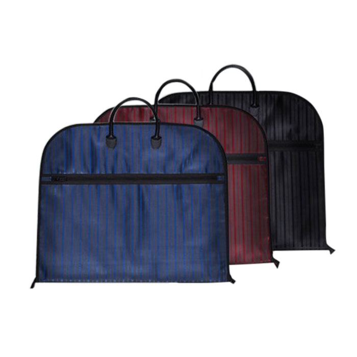 出張 旅行に便利で おしゃれなガーメントケースの3個セット いい状態でスーツを持ち運べます ガーメントケース 3個セット スーツ用 35%OFF 収納バッグ 収納カバー 型崩れ防止 YWSN-001-3SET ビジネス 撥水加工 サイドポケット付き ストライプ スーツキャリー 吊り下げ可能 セール しわ防止 旅行