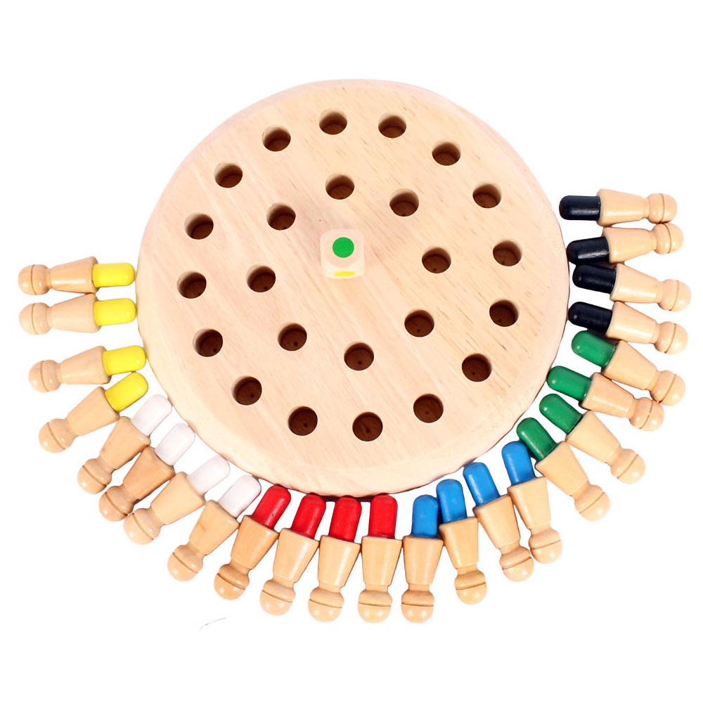メモリーチェス 木製 知育玩具 脳 トレーニング おもちゃ 記憶チェス 幼児教育 記憶ゲーム 型はめパズル お子様から高齢者まで ◇XH40