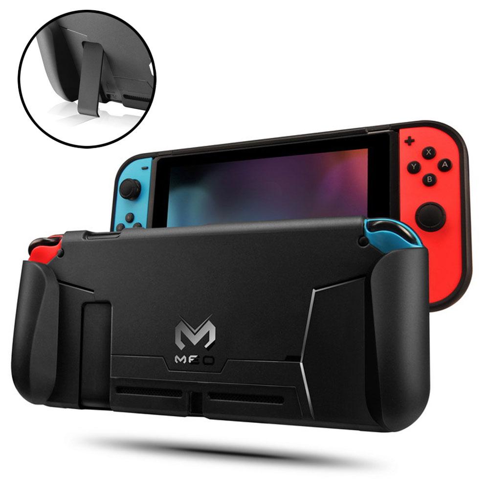 携帯モードでのプレイに ニンテンドースイッチ専用ハンドグリップ付きカバー Nintendo Switch専用 ハンドグリップ付き 品質保証 本体カバー ケース お値打ち価格で TPU 傷防止 衝撃吸収 柔らかい素材 スイッチ アクセサリー 定形外郵便 MEO-M188 保護