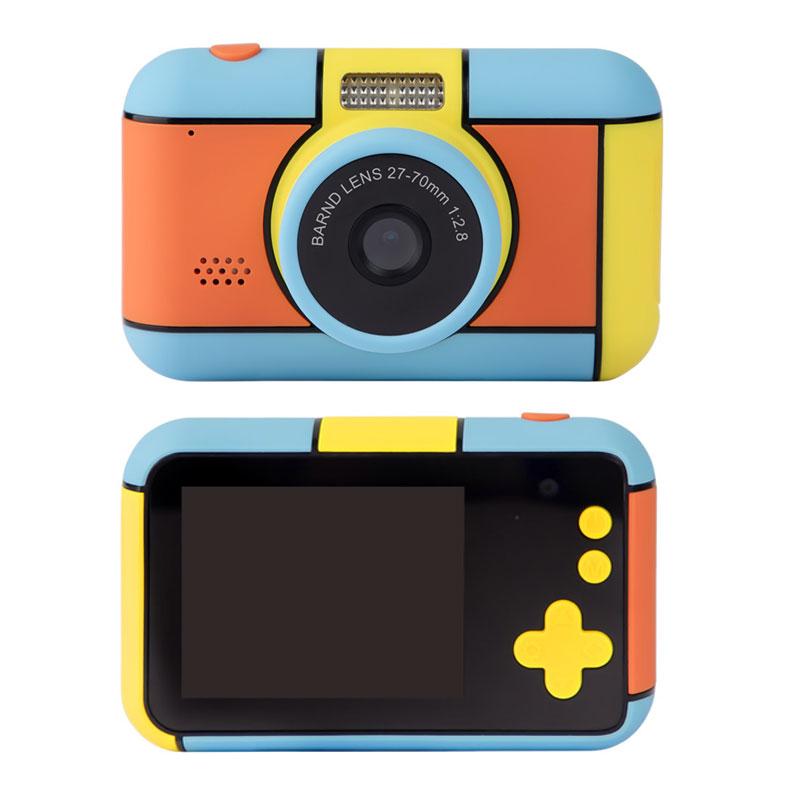 前と後ろにカメラレンズを搭載し 自撮りも簡単にできるこどもカメラ 子供用 デジタルカメラ こどもカメラ キッズ 期間限定 カメラ 2800万画素 海外限定 前後カメラ フラッシュ付き 自撮り 玩具 写真撮影 動画撮影 HEE-D7 2.4インチ液晶 ビデオ録画